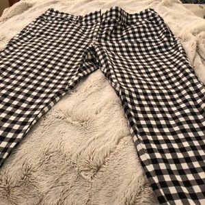 LOFT Pants - Checkered Black & White Loft Crop Pant
